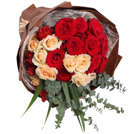 思绪----红玫瑰11枝,香槟8枝,凤尾3枝