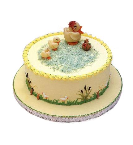 快乐一家子----2磅(8寸)圆形鲜奶蛋糕