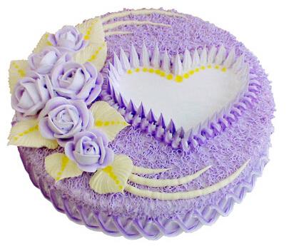 爱的礼物----2磅(8寸)圆形鲜奶蛋糕