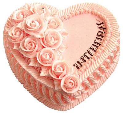 心相印----8寸(2磅)心形粉色鲜奶蛋糕