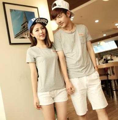 45件包邮韩版学院风情侣T恤尺码:S-XXL_223_58