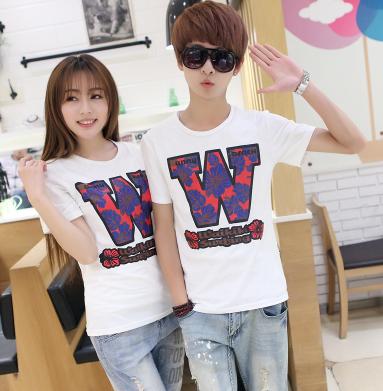 45件包邮韩版学院风情侣T恤尺码:S-XXL_213_48
