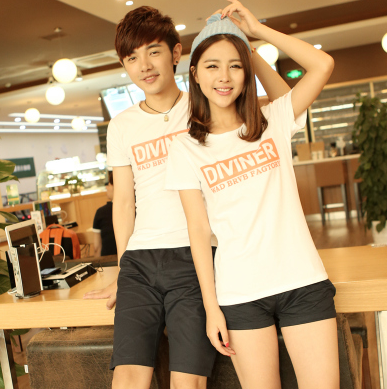 45件包邮韩版学院风情侣T恤尺码:S-XXL_204_39