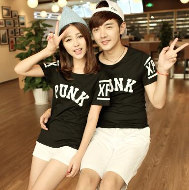 45件包邮韩版学院风情侣T恤尺码:S-XXL_200_35