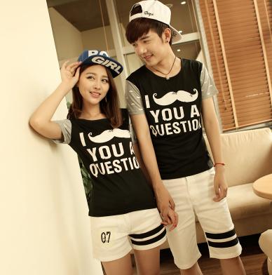 45件包邮韩版学院风情侣T恤尺码:S-XXL_196_31