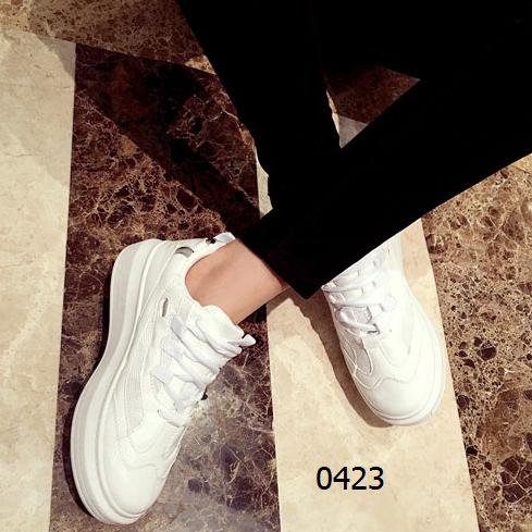 女鞋  70包邮韩版运动板鞋休闲鞋白色粉色枪色